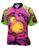 Biker Chick on a Bike Women's Cycling Jersey