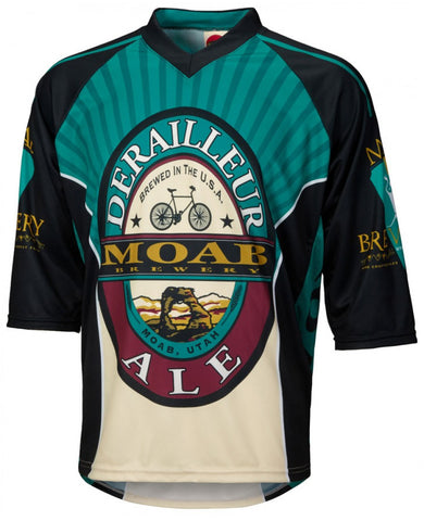 Moab Brewery Derailleur Ale 3/4 Sleeve Mountain Bike Jersey