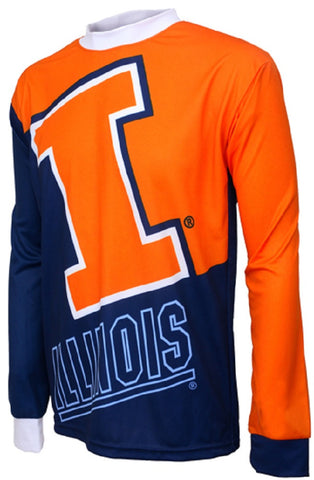 NCAA Men's Adrenaline Promotions Illinois Fighting Illini MTB Cycling Jersey