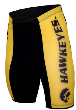 NCAA Men's Adrenaline Promotions Iowa Hawkeyes Cycling Shorts