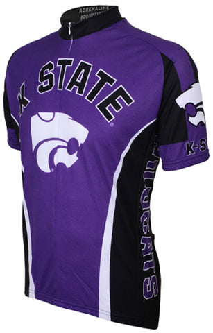 NCAA Men's Adrenaline Promotions Kansas State Wildcats Road Cycling Jersey