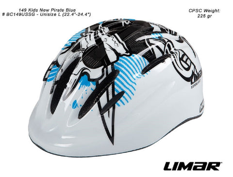 Limar 149 Kids Helmet (Blue Pirate)