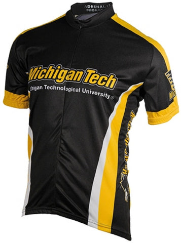 NCAA Men's Adrenaline Promotions Michigan Tech Huskies Road Cycling Jersey