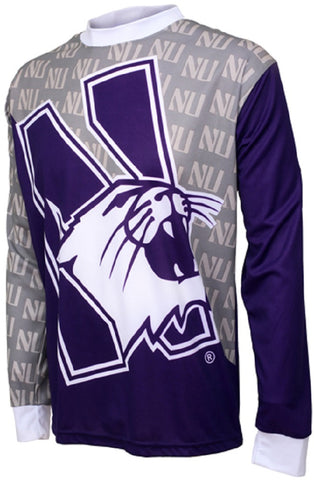 NCAA Men's Adrenaline Promotions Northwestern Wildcats MTB Cycling Jersey