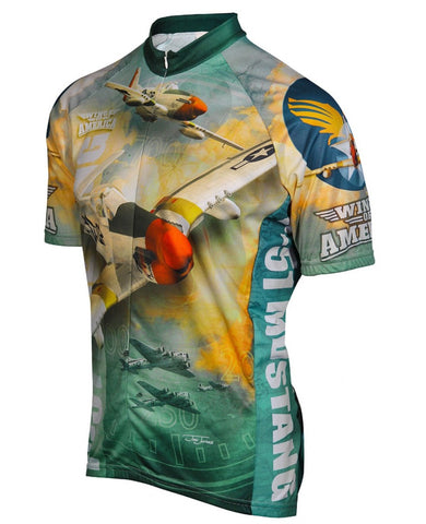 American P-51 Mustang Airplane Cycling Jersey