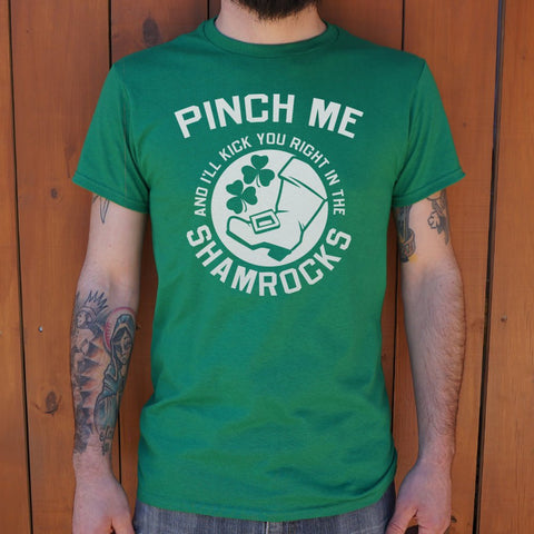 Pinch Me Shamrocks T-Shirt (Mens)