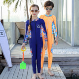 Little Kids One Piece Zip Front Long Sleeves Full Suit Sun Protection UPF 50+ Wetsuit