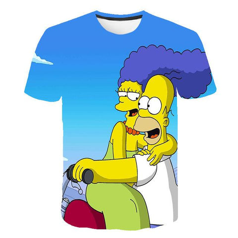 The Simpsons 3d Print T Shirt (Homer and Marge)
