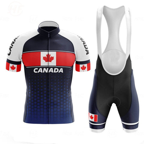 Canada Men's Cycling Jersey Short Kit