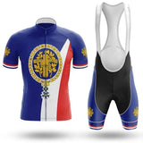 France Men's Cycling Jersey Short Kit
