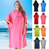 Unisex Change Robes Poncho Quick-dry Hooded Towel Sweat-absorbent Swim Robe Summer Beach Pool Swimming #N