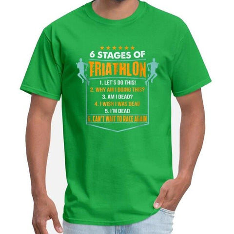 6 Stages Of Triathlon Men's T-Shirt