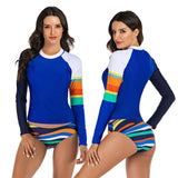 Two Piece Long Sleeved Women's Rashguard Swimsuit Set