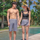Male Female Matching Couple's Swimsuits