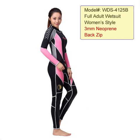 Men's and Women's 3 Reactor 3 mm Back Zip Neoprene Full Triathlon Wetsuit