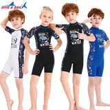Kids Thermal Lycra Wetsuit / Swimsuit Shorty (with Back Zipper)