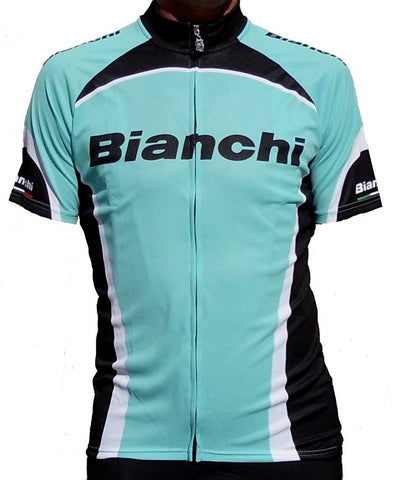 Bianchi Men's Team Gran Fondo Short Sleeve Cycling Jersey (Medium)