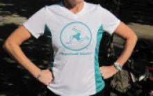 Womens Technical T Shirt. Perpetual Motion, Teal