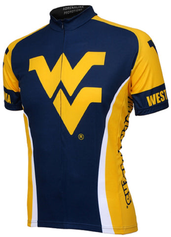 NCAA Men's Adrenaline Promotions West Virginia Mountaineers Cycling Jersey