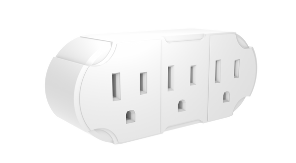 STANLEY 30366 3 Way Wall Adapter WHT - wattsonsale