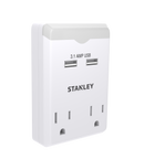 STANLEY 30386 2-Outlet 2 USB Night Light Wall Adapter - wattsonsale