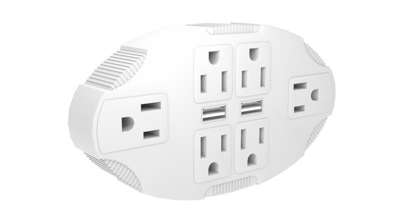 STANLEY 30420 6-Outlet Wall Adapter with 2 USB Ports - wattsonsale