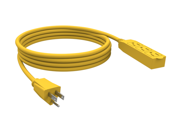 STANLEY 31912 Cordmax Shop, 3-Oultet 12 foot Grounded Extension Cord - wattsonsale