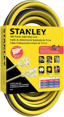 STANLEY 50FT CONTRACTOR GRADE OUTDOOR EXTENSION CORD WITH LIGHTED END - wattsonsale