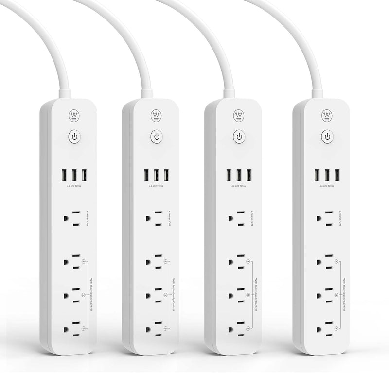 Westinghouse 4-Pack Wi-Fi Smart Strip, Works with Amazon Alexa, Google Assistant, IFTT - wattsonsale