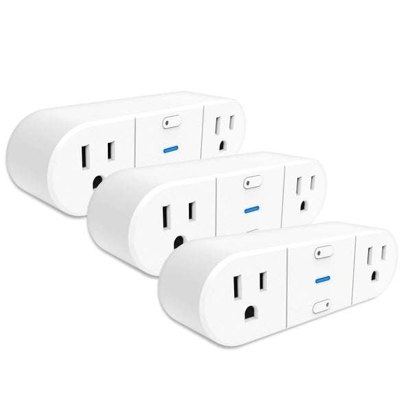 Westinghouse 3-Pack Wi-Fi 2-Outlet Smart Plug, Works with Amazon Alexa, Google Assistant, IFTT - wattsonsale