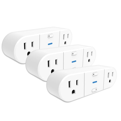 Westinghouse 3-Pack Wi-Fi 2-Outlet Smart Plug, Works with Amazon Alexa, Google Assistant, IFTT