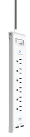 Westinghouse® 96022 Surge Strip USB White, 6-Outlet 2 USB - wattsonsale