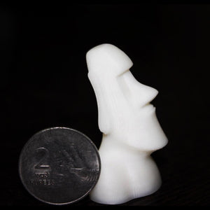 Moai Statue 3D Printed at 50 micron layer resolution