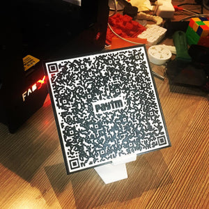 Paytm QR Code 3D Printed on the FABX Pro