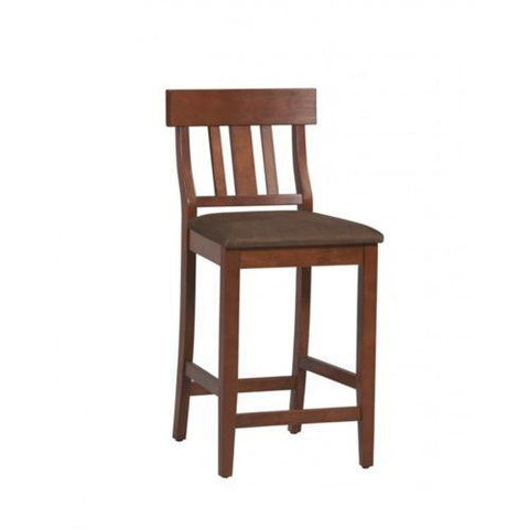 Bayden Hill 01848DKCHY-01-KD-U Torino Collection Slat Back Counter Stool