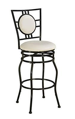 Linon 03282MTL-01-KD-U Townsend Adjustable Stool