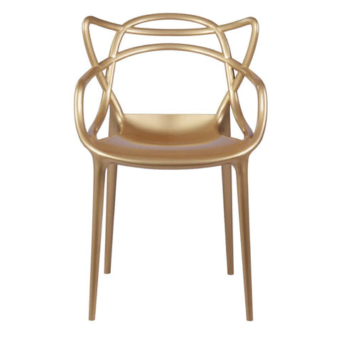 Fine Mod Imports FMI10067-gold Brand Name Dining Chair, Gold - Peazz.com - 1