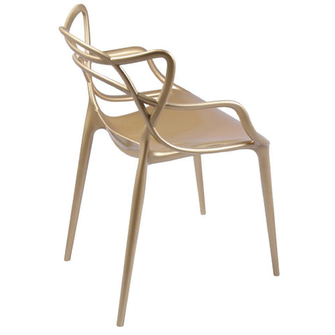 Fine Mod Imports FMI10067-gold Brand Name Dining Chair, Gold - Peazz.com - 6