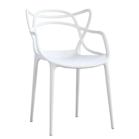 Fine Mod Imports FMI10067-white Brand Name Dining Chair, White - Peazz.com