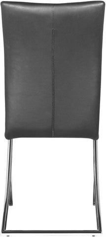 Zuo Modern 102101 Delfin Dining Chair Color Black Chromed Steel Finish - Set of 2 - Peazz Furniture - 4