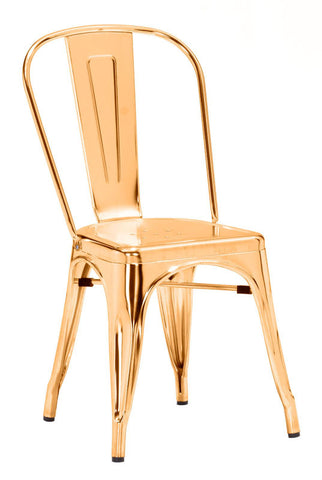Zuo Modern 108060 Elio Dining Chair Color Gold Steel Finish - Peazz Furniture - 1
