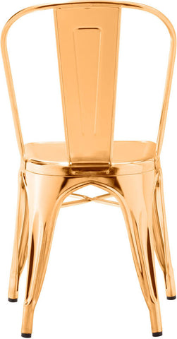 Zuo Modern 108060 Elio Dining Chair Color Gold Steel Finish - Peazz Furniture - 4