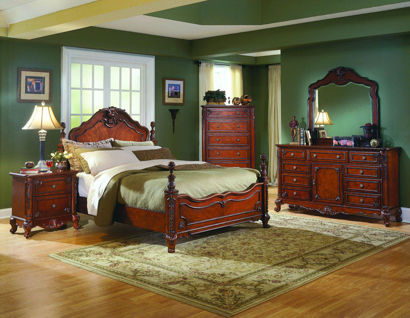 Homelegance 1385-1 Madaleine Collection Color Warm Cherry