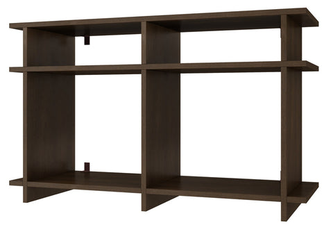 Accentuations by Manhattan Comfort Suitable Wellington TV Stand with 4 Open Shelves in White - Peazz Furniture - 1