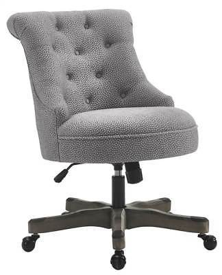 Linon 178403LTGRY01U Sinclair Office Chair Light Gray - Gray Wash Wood Base