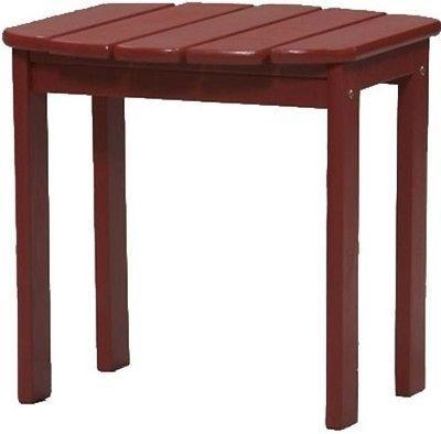 Bayden Hill 20155RED-01-KD-U Red Adirondack End Table