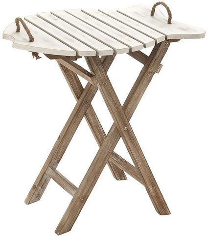 "Bayden Hill Wd Folding Table 23""W, 24""H - Peazz.com"