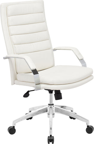 Zuo Modern 205327 Director Comfort Office Chair Color White Chromed Steel Finish - Peazz Furniture - 1
