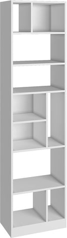 Accentuations by Manhattan Comfort Durable Valenca Bookcase 4.0 with 10- Shelves in White - Peazz Furniture - 1