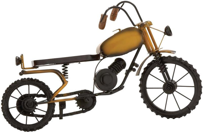Bayden Hill Metal Wood Motorcycle 16 w, 10 h